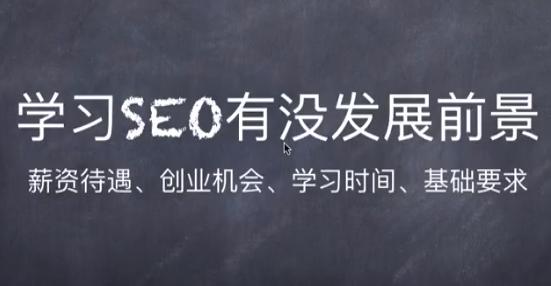 学习seo有没有发展前景?看完你就知道了!